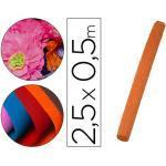 Papel crespon liderpapel rollo de 50 cm x 2,5 m 85g/m2 naranja
