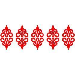 POHOVE 10pcs Espejo Acrílico Adhesivos de Pared, Baño Pegatina Espejo Acrílico Ahuecado Diseño, Bricolaje Espejo Superficie Autoadhesivo Espejos Pegatinas para Decoración Hogar - Rojo, Free Size