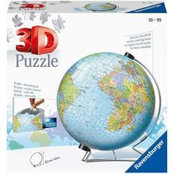 Ravensburger 12436 Globo 3D Puzzle, 540 Piezas, Multicolor, Edad Recomendada 10+, Dimensiones 27.5 x 23.3 cm