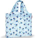 reisenthel mini maxi beachbag Bolsa de tela y playa, 62 cm, 40 liters, Azul (Blue Leaves)