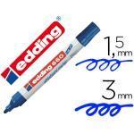 Rotulador Edding Para Pizarra Blanca 660 Color Azul Punta Redonda 1,5-3 Mm Recargable