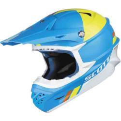 Scott 350 Pro Trophy Casco de Motocross Amarillo Azul XL