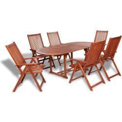Set de comedor de jardín 7 piezas madera maciza de acacia - VIDAXL