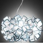 Slamp Clizia, lámpara colgante de diseño, azul