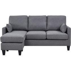 Sofá cama 3 plazas con chaise longue Gris