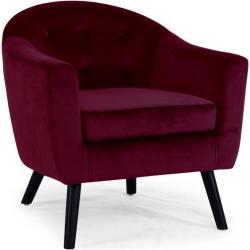 Sofa Savoy 1 plz, terciopelo rojo burdeos