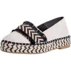 Zapatos blancos de ante de punta redonda Tamaris de materiales sostenibles para mujer