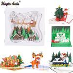 Tarjeta de Navidad Santa Ride, tarjeta de Año Nuevo, Festival de Navidad, vacaciones de invierno,