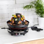 Taste Volcano Grill-Raclette, 1500 W, 6 personas, en negro Klarstein