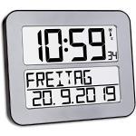 TFA Reloj Digital Mural Plata