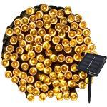 Tuokay 22M Guirnalda de Luces de Energía Solar 8 Modos 200 LED Cadena de Luces Impermeables para Decorar Patio, Jardín, Terraza, Boda, Fiesta, Navidad (Blanco Calido, 1 Pieza)