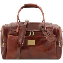 Tuscany Leather - TL Voyager - Maleta de Viaje en Piel con Bolsillos al Lado Marrón - TL141296/1