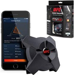 UFC Combat Strike Force Tracker Dispositivo Inteligente para Sacos de Boxeo, Mide tu Velocidad, Potencia y Resistencia, Unisex, Negro, Talla única