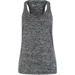 Tops grises sin mangas con cuello redondo Under Armour para mujer