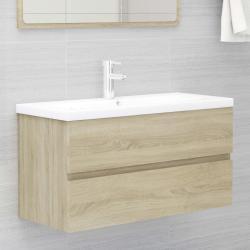 vidaXL Armario para lavabo aglomerado roble Sonoma 90x38,5x45 cm