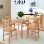 vidaXL Conjunto de comedor 5 piezas madera de pino
