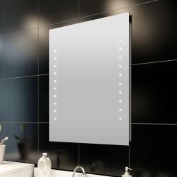 Baño ancho A 60 cm largo L 60 cm con luz vidaXL