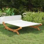 vidaXL Hamaca madera maciza de abeto crema 165x188,5x46 cm
