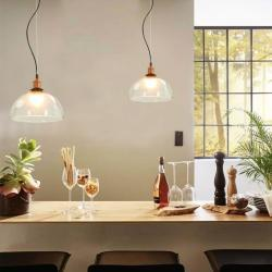 vidaXL Lámparas de techo 2 unidades redondas transparente 30 cm E27