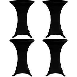 vidaXL Mantel elástico para mesa alta 4 unidades negro Ø70 cm