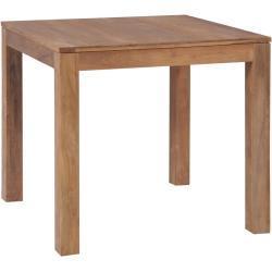 vidaXL Mesa de comedor madera teca maciza acabado natural 82x80x76 cm