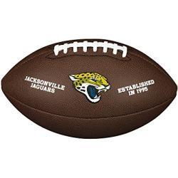 Wilson WTF1748XBJX Balón de Fútbol Americano, Nfl Team Logo - Jaguars, Tamaño Oficial, Logo de Los Jaguars de Jacksonville, Uso Recreativo o Coleccionismo, Pvc, Marrón