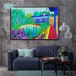 wtnhz Sin Marco David Hockney Un Grande Splashist Personalizzato Hot New Art Poster Top Tela Pittura Decorazioni per la casa Stampe murali Poster e stampe 60x90cm