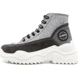 Sneakers grises de invierno para mujer
