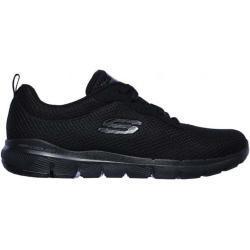 Zapatos deportivos negros Skechers Flex Appeal para mujer