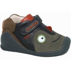 Zapatos verdes con velcro informales Biomecanics infantiles