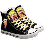 ZXJWZW Anime Naruto Zapatos De Lona Zapatos De Cordones Altos Zapatos De Ocio Impresos Transpirables Unisex